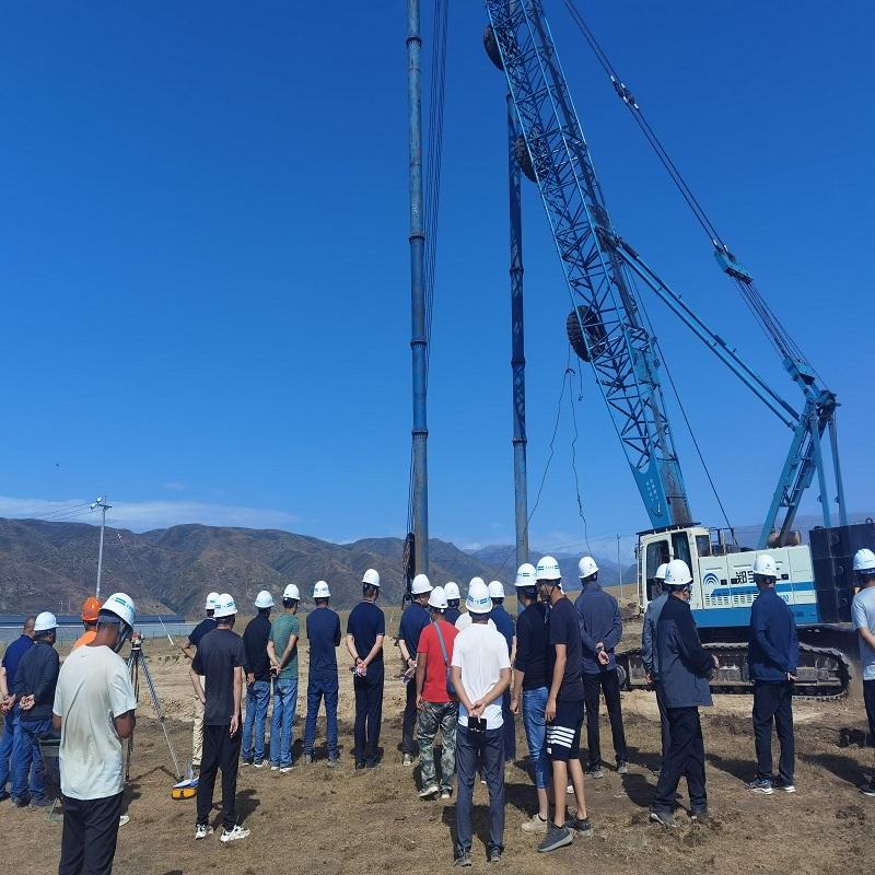 新疆塔城水库强夯项目,指挥部,莅临现场指导工作