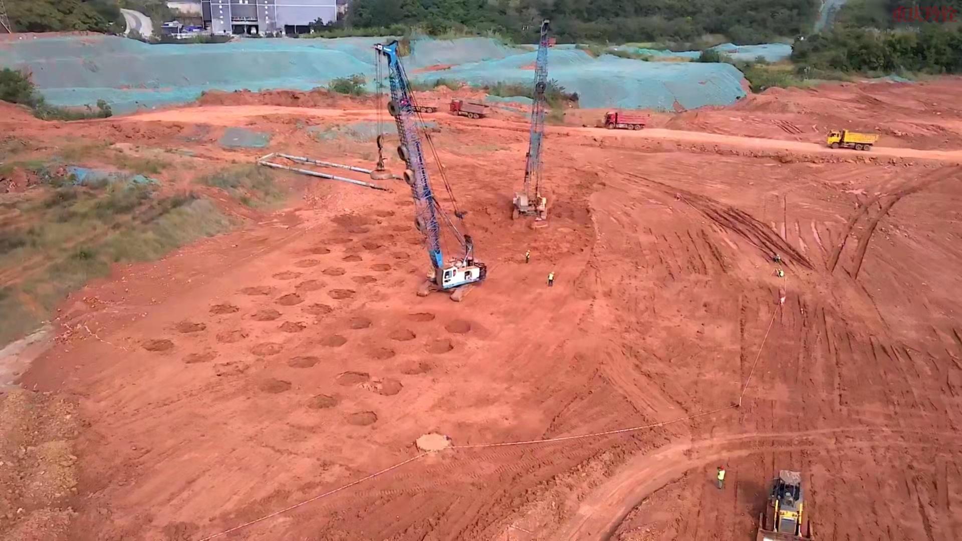 阿里云成都简州新城项目地基强夯工程